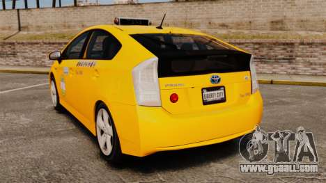 Toyota Prius 2011 Adelaide Independant Taxi for GTA 4 back left view