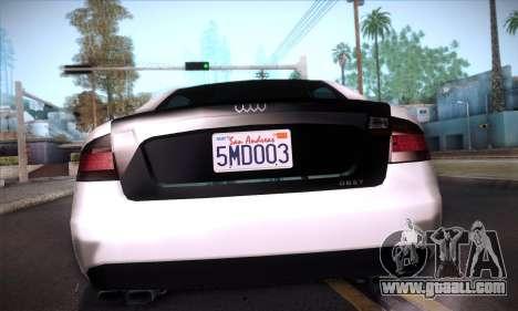 GTA V Tailgater for GTA San Andreas interior