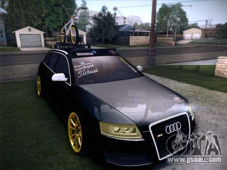 Audi Avant RS6 LowStance for GTA San Andreas bottom view