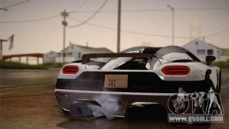 Koenigsegg Agera for GTA San Andreas right view