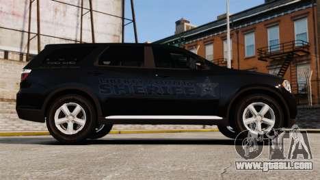 Dodge Durango 2013 Sheriff [ELS] for GTA 4 left view