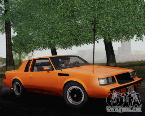 Buick GNX 1987 for GTA San Andreas left view