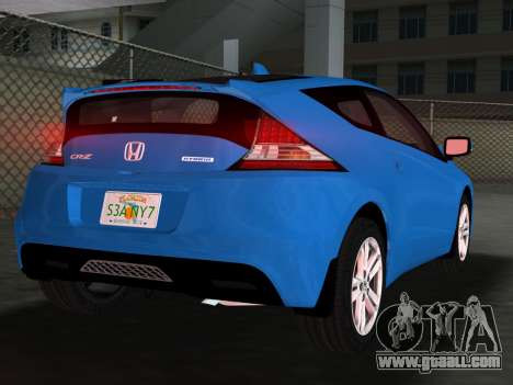 Honda CR-Z 2010 for GTA Vice City bottom view