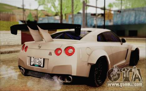 Nissan GT-R Liberty Walk for GTA San Andreas left view