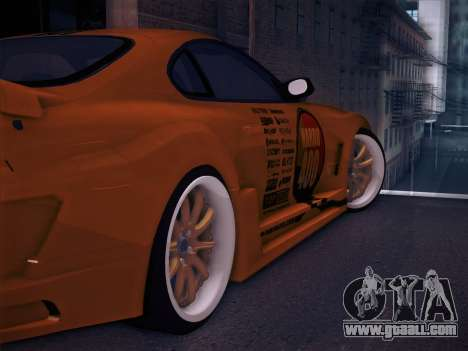 Toyota Supra Top Secret V12 for GTA San Andreas wheels