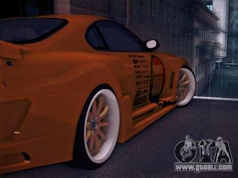 Toyota Supra Top Secret V12 for GTA San Andreas wheels