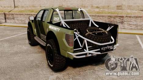 Ford F150 SVT 2011 Raptor Baja [EPM] for GTA 4 back left view