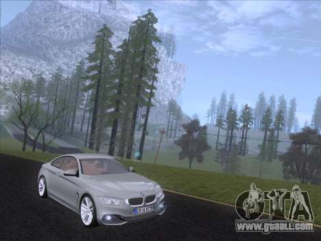 BMW F32 4 series Coupe 2014 for GTA San Andreas left view