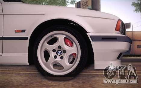 BMW E34 Alpina for GTA San Andreas back left view