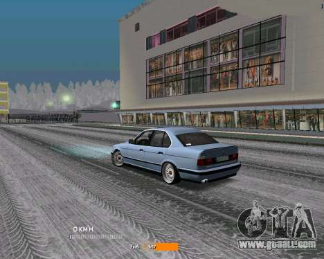 BMW E34 JDM for GTA San Andreas back left view