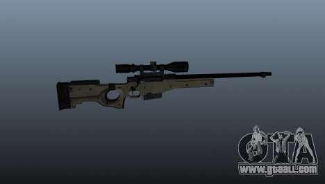 AI Arctic Warfare sniper rifle Police for GTA 4 third screenshot