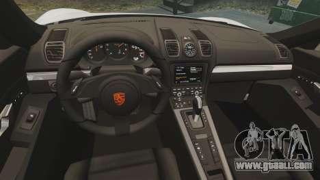 Porsche Cayman S 981C for GTA 4 inner view