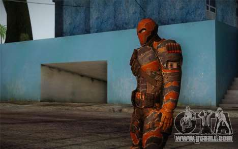 Deathstroke from Batman: Arkham Origins for GTA San Andreas third screenshot
