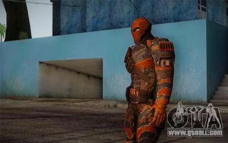 Deathstroke from Batman: Arkham Origins for GTA San Andreas third screenshot