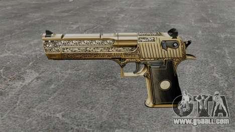 Luxury Desert Eagle pistol for GTA 4 third screenshot