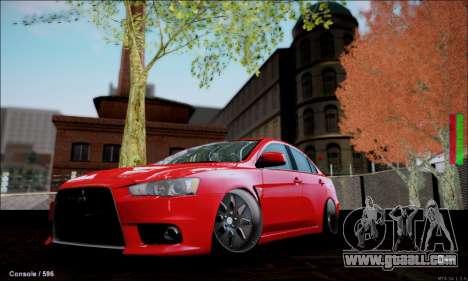 Mitsubishi Lancer Evolution X Stance Work for GTA San Andreas
