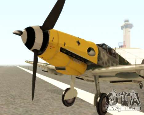 Bf-109 G6 v1.0 for GTA San Andreas left view