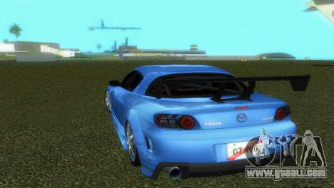 Mazda RX8 Type 1 for GTA Vice City inner view