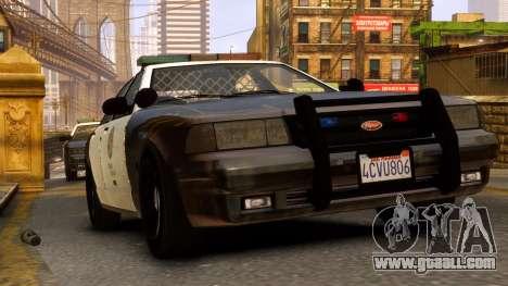 GTA V Police Cruiser for GTA 4 back left view