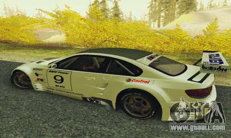 BMW M3 GT2 E92 ALMS for GTA San Andreas left view