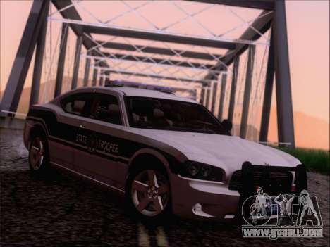 Dodge Charger San Andreas State Trooper for GTA San Andreas back left view