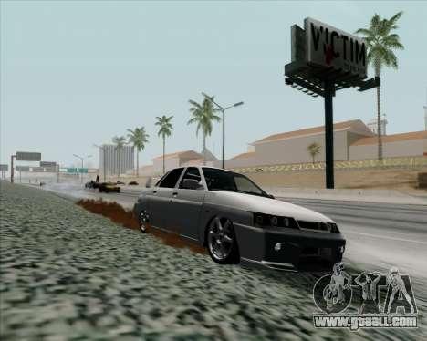 VAZ 2110 v2 for GTA San Andreas back left view