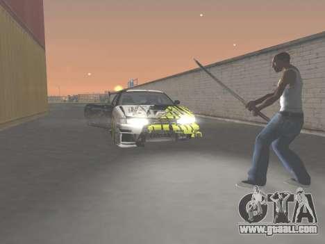 CSO Katana for GTA San Andreas fifth screenshot