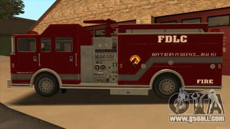 Firetruck HD from GTA 3 for GTA San Andreas left view