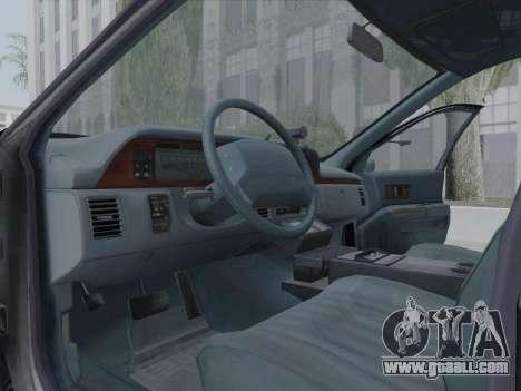Chevrolet Caprice LAPD 1991 [V2] for GTA San Andreas inner view