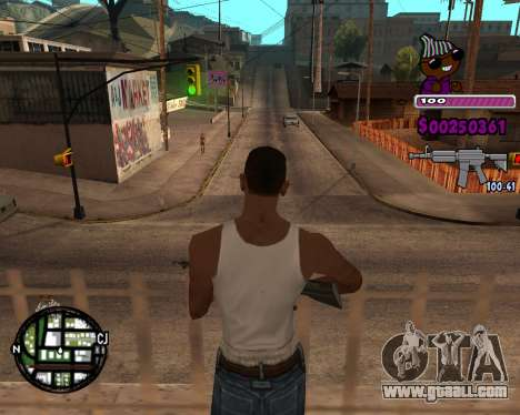 C-HUD for Ballas for GTA San Andreas third screenshot