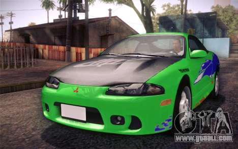 Mitsubishi Eclipse Fast and Furious for GTA San Andreas side view