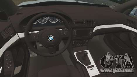 BMW M5 E39 2003 for GTA 4 inner view