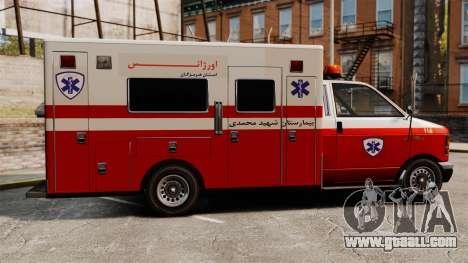 Iranian ambulance for GTA 4 left view