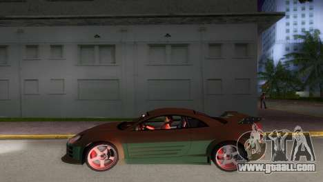 Mitsubishi Eclipse GT 2001 for GTA Vice City back view