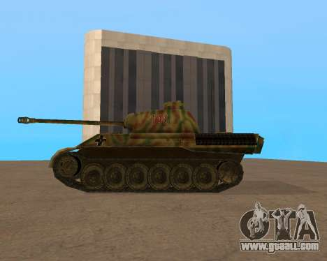 pz.kpfw v Panther for GTA San Andreas back left view