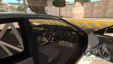 Nissan Skyline R34 for GTA San Andreas inner view