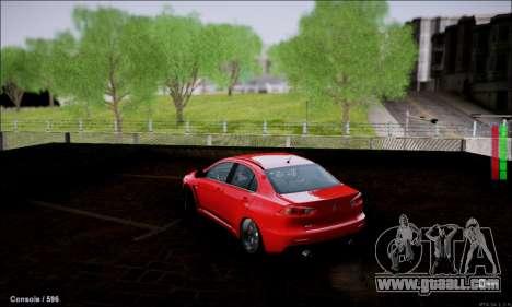 Mitsubishi Lancer Evolution X Stance Work for GTA San Andreas back left view
