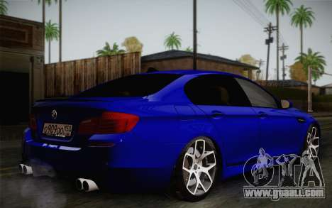 BMW M5 F10 v2 for GTA San Andreas back left view