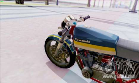 Kawasaki Z-400FX Custom for GTA San Andreas back left view