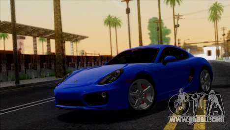 Porsche Cayman S 2014 for GTA San Andreas interior
