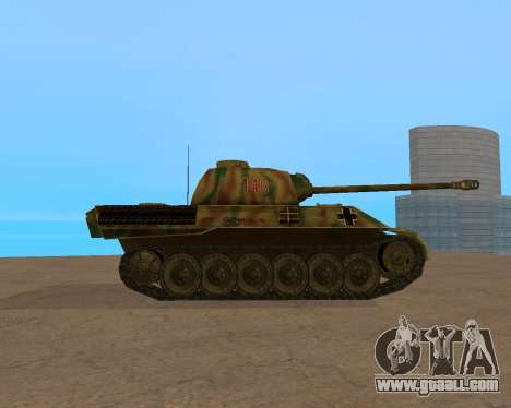 pz.kpfw v Panther for GTA San Andreas right view