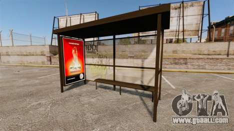 New advertising posters at bus stops for GTA 4 forth screenshot