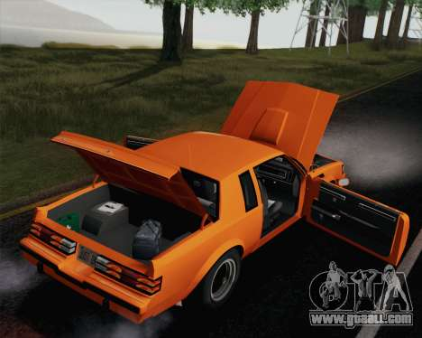 Buick GNX 1987 for GTA San Andreas engine