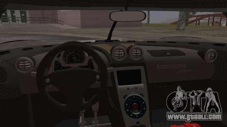 Koenigsegg Agera for GTA San Andreas upper view