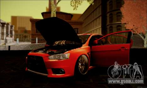 Mitsubishi Lancer Evolution X Stance Work for GTA San Andreas side view