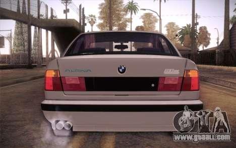 BMW E34 Alpina for GTA San Andreas back view