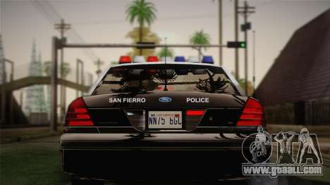 Ford Crown Victoria 2005 Police for GTA San Andreas right view