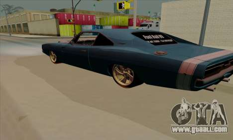 Dodge Charger 1969 Big Muscle for GTA San Andreas right view