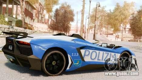 Lamborghini Aventador J Police for GTA 4 left view