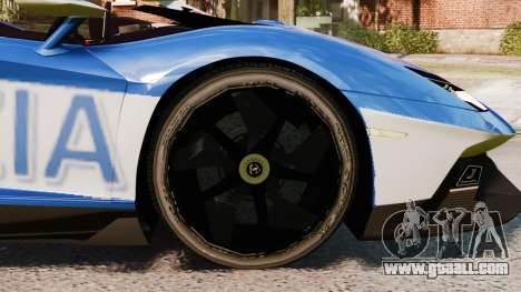 Lamborghini Aventador J Police for GTA 4 back view